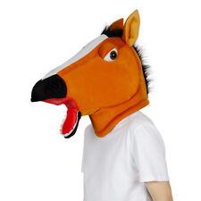 Adulte Cheval Big Head Mascotte Tête Déguisement Animal Accessoire Masque