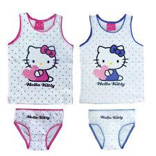Unterwäsche 2tlg. Set Mädchen Hemd Slip Hello Kitty 98-104 110-116 122-128 #197