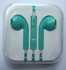 GREEN Earphones Headphones For Iphone Earpods Mic SONY SAMSUNG 5 6 S Handsfree