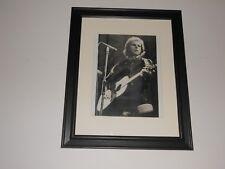 "Framed Van Morrison in London 1974 on Stage B/W in Black Glass Frame 14""x17"""