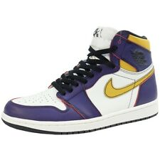 NIKE AIR JORDAN 1 HIGH OG LAKERS LA TO CHICAGO CD6578-507 Sneakers PURPLE US 9