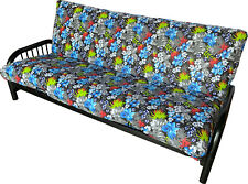 Full Futon Mattress Covers, Protector Cover Cotton/Polyester Tropical Flower H1