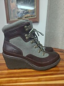 Women's Timberland Amston Hiker Boots, A1132 Leather and Canvas size 7.5