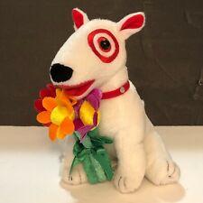 Target Bullseye Dog Plush Bull Terrier Holding Flowers 2009 Edition 1