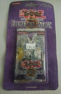 YUGIOH ELEMENTAL ENERGY 1st Edition Sealed Blister Booster Pack