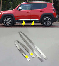 4pcs Side Body Door Molding Cover Trim For 2015-2016 Jeep Renegade