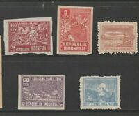 Indonesia Transition Postal stamp Netherlands Dutch 12-26-20 no gum mint