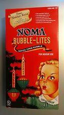 Noma Bubble Lite Set of 7 Vintage Special Edition Christmas Lights Nostalgia New