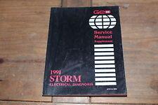 1991 Geo Storm Supplement Electrical Diagnoses GM Shop Service Manual