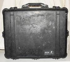 Used Pelican Case Model 1600 Black Heavy Duty Flight Case (INV I102)
