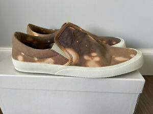 Maison Martin Margiela Brown Tie Dye Slip-On Sneakers Canvas Size 11 / 44 Shoes