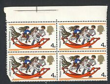 1968 - SG 775 (Block of 4 with Gutter) - 4d Boy and Girl with Rockin- MNH (1044)