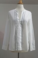 NWT J Crew Factory Sz S White CORDED COTTON POPOVER SHIRT Top Style F0327