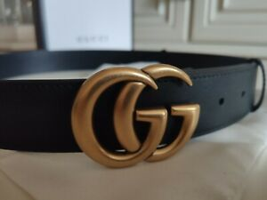 Gucci Marmont Gold Double G Leather belt Size 90/36