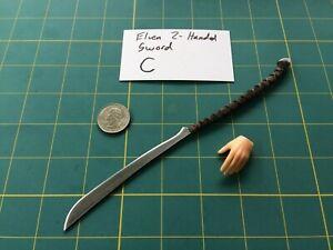 """""""Elven 2-Handed Sword C"""" 1:6 Scale Custom Steel Miniature By Auret"""