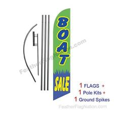 Boat Sale 15' Feather Banner Swooper Flag Kit with pole+spike