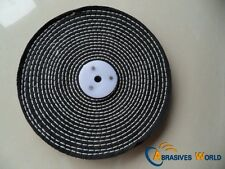 "8""X0.5"" 200X12.5MM Black Close Spiral Sewn Buffing Wheel for polishing metal"