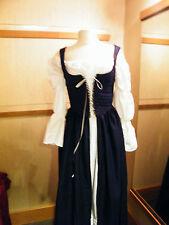 renaissance handmade blue OVER DRESS ONLY many sizes theater quaility