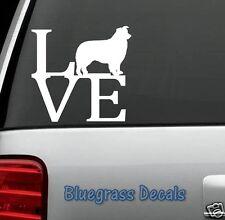 B1006 Border Collie LOVE DOG Decal Sticker Car Truck SUV Van LAPTOP Collar Puppy