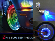 2pcs Blue LED Tyre Tire Valve Caps Neon Light Bike Car motorcycle