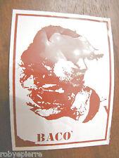 Adesivo sticker vintage Bacò Baco BACO' moda abbigliamento griffe adesivi vendo