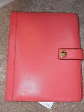 "NWT Coach Turnlock I-Pad Case, Leather, Coral $198 F67750 8"" x 10"""