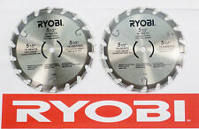 "2) NEW RYOBI 5 1/2"" 18 TOOTH CARBIDE-TIPPED CIRCULAR SAW BLADES FIT 10MM ARBOR"
