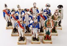 12 Scheibe-Alsbach Porcelain Napoleonic Soldiers Germany