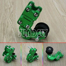 Green Universal Motorcycle Alloy Adjustable Chain Tensioner PIT Trail Dirt Bike