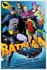 BATMAN ADAM WEST DVD 1966 TV MOVIE-With The Penguin, Riddler, Joker & Catwoman