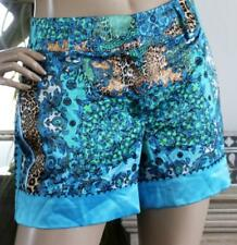CHARLIE BROWN Baroque Blue Tiger Day/Evening Silky Shorts Ladies Size 10 -12 NEW