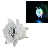 2xLED Plug In Floral Light Up Night Light 3 Beautiful Colours