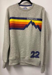 Superdry Mountain Squad Grey Sweatshirt Jumper Size XL