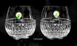 WATERFORD Barware - Stemless Wine Brandy - Cut Crystal - 16 oz - Set of 2 NEW!!