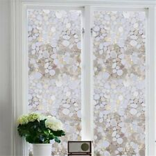 3D No Glue Static Removable Home Stone Privacy Window Films Tinted Clings Decor