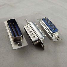 10x Plastic DB15M D-SUB DB15 2 Row 15Pin Male Plug Solder Type Adapter Connector