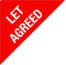 LET AGREED - Estate Agents Stickers - Triangles - SALE agreed - NOW let - SOLD