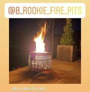 B-rookie  B3 fire pit upcycled washing machine drum bare steel ( 3 leg base )