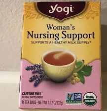 Yogi Nursing Support Tea, Woman's Breastfeeding Lactation, 16 Bags, Ex 06/20