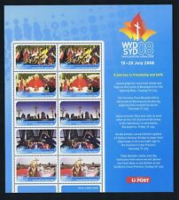2008 World Youth Day (WYD) Pope Benedict XV1 SHEETLET, MNH, HARD-TO-GET!