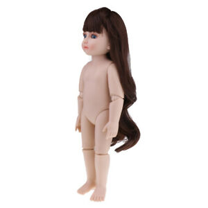 DIY Moveable Nude Jointed Doll for SD BJD Girl Doll Body Part DIY 45cm/18inch