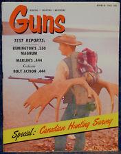Magazine *GUNS*, March 1965 !!!Czech M/38 PISTOL!!!, **.444 Bolt-Action RIFLE**