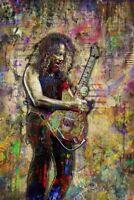 Kirk Hammett Of METALLICA Poster, Metallica Print 12x18inch Free Shipping