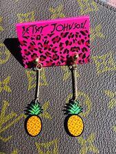 US SELLER Betsey Johnson Pineapple Gold Drop Earrings