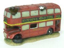 London Red Bus Aquarium Ornament Fish Tank Decoration Routemaster Double Decker