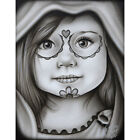Daisy by Big Ceeze Mexican Little Girl Black & White Tattoo Canvas Art Print