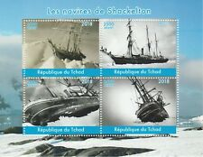 Chad 7705 - 2018  SHACKLETON'S SHIPS perf sheet of 4 unmounted mint