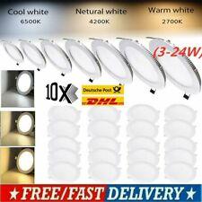 10X Ultraslim 3W-18W LED Panel Leuchte Deckenleuchte Einbaustrahler Wandleuchte