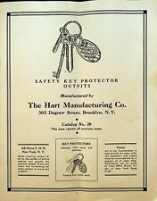 Hart Manufacturing Co Catalog 39 Safety Key Protector Outfits Brooklyn NY