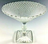 Antique Vintage Depression Glass Art Deco 1920s 1930s English Hobnail Diamond